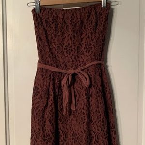 Authentic Italian Lace Strapless Dress